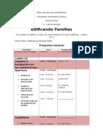 Retiro de Familia Programa Detallado