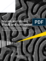 Metal and Mining-Fraud and Corruption