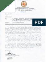 Memorandum Circular DILG Listahang Tubig Project