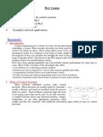 Plc Course - Session 1