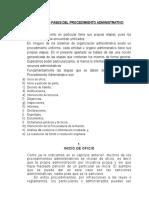 Etapas o Fases Del Procedimiento Administrativo