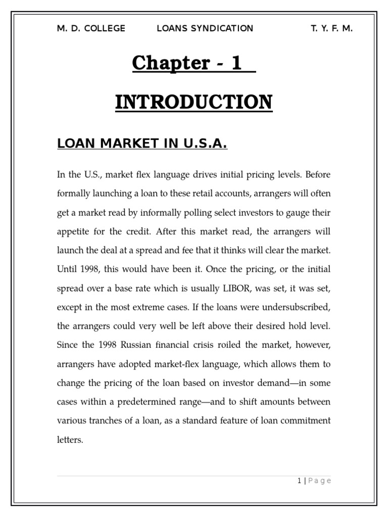 Final Project Loan Syndication Syndicated Loan Assignment Law