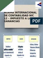 Norma Internacional de Contabilidad Nic 12 – Impuesto