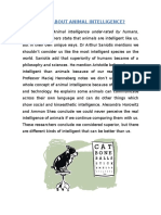What About Animal Intelligence