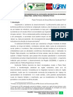 Dualidade e Heterogeneidade Da Expansao Recente Da Economia Nordestina