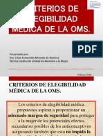 Criterios de Elegibilidad Medica de La Oms