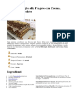 Torta Millefoglie Alle Fragole Con Crema, Panna e Cioccolato