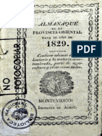 Almanaque de La Provincia Oriental 1829