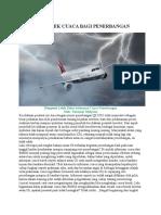 Mengenal Efek Cuaca Bagi Penerbangan