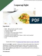 Pollo Con Asparagi