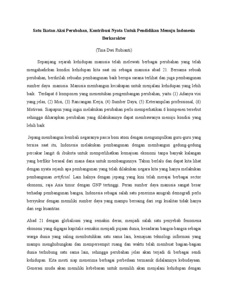essay kontribusi untuk bem