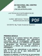 METODOS Y TECNICAS DE LA INVESTIGACIÓN SOCIAL