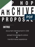 Hip Hop Archive Proposal