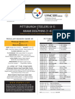 Pittsburgh Steelers At Miami Dolphins (Oct. 16)