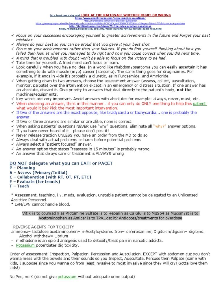 Updated Nclex-Study-Guide (1) pdf | Chronic Obstructive Pulmonary