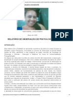 Minhas Memórias_ Aluna e Profissional Em Educação_ Relatório de Observação Docente
