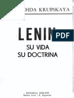 Nadiezhda Krúpskaya, Mi Vida Con Lenin (Vospominaniya o Lenine, Partizdat, 1933),