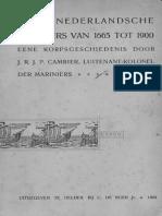 Het Korps Mariniers 1665 to 1900