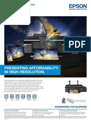 Epson L805 | Printer (Computing) | Image Scanner