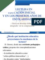 _La Lectura en Educación Inicial y en Los Primeros Años de Escolaridad