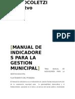 Manual de Indicadores Para La Gestion Municipal