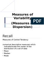 2.4 Measures of Variability