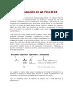 Programación de Un PIC16F84