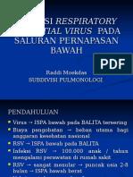 Infeksi Respiratory Syncytial Virus Pada Saluran Pernapasan Bawah