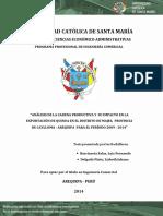 Análisis de La Cadena y Su Impacto en La Export Majes