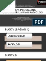 Blok v Penunjang b. Laboratorium Dan c. Radiologi