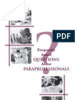 Paraprofessionals FAQ