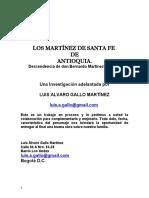 Los Martínez de Santafé de Antioquia