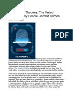 Criminology Theories