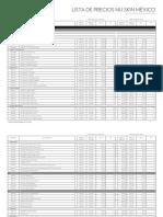 MX Lista de Precios Detallada Mayo 2016