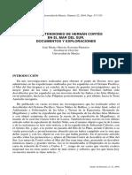 Las Pretensiones de Hernán Cortés en El Mar Del Sur