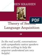 Theory of Second Language Acquisition
