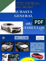 Presentacion Vehiculos Subasta General 08-2016