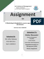 E Marketing BD Assignment