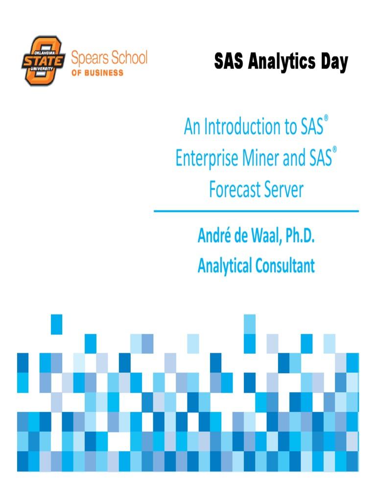 SAS Enterprise Miner in SAS Studio   Sas (Software