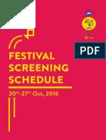 Mumbai Film Festival, 2016 - Screening Schedule