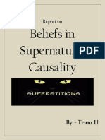 Beliefs in Supernatural Causality