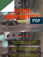 Manufacturing Process Week 1