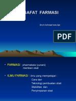 (i) - Introduction of Filsafat Farmasi
