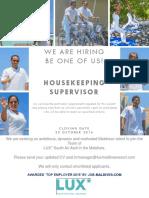 Housekeeping Supervisor (1)