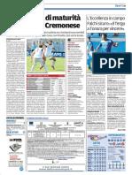 La Nuova Sardegna Gallura 16-10-2016 - Calcio Lega Pro