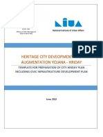 Template for Preparation of City HRIDAY Plan