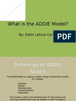 What is the Addie Model1