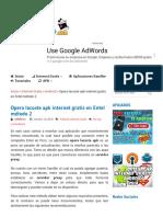 Opera Lacoste Apk Internet Gratis en Entel Método 2
