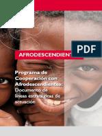 Programa de Cooperación con Afrodescendientes