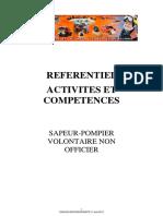 Référentiel Activités Et Compétences SPV 17 04 13